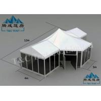 Best Galvanized Transparent Hotel Bell Tent With Size Soft PVC Walls / Glass Walls wholesale