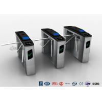 Cheap Entry Systems Access Control Turnstiles with Led Display , Road Barcode Electric Turnstile for sale