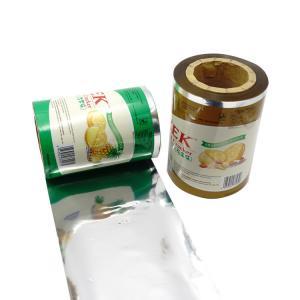 Best Food Grade Aluminum Foil Packaging Film Roll Laminated Gravure Printing wholesale