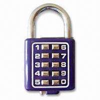 Best 10-digit Digital Padlock, Made of Zinc-alloy with Color-coated Finish wholesale