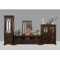 Best American Antique Living leisure room furniture sets Wooden TV wall unit set by Floor stand and Tall display cabinet wholesale