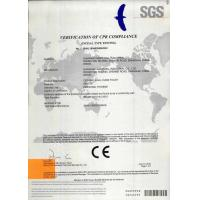 Shanghai Sanitwell Industrial Co., Ltd. Certifications