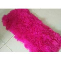 Best Red Long Haired Mongolian sheep fur Tibetan Sheepskin Coat Lining Mateiral wholesale