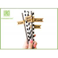 Best Disposable Colored Paper Straws , Paper Drinking Straws Bulk For Baby Shower 197 * 6mm wholesale