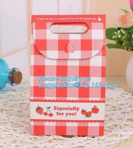 Best Printed Customised Craft Kraft Wedding Waterproof Cakes Shopping Bread Food Paper Gift Bag,OEM Factory food grade white wholesale