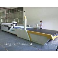 Quality Computerized Apparel Quilt Fabric Cutting Machine , Automatic Cloth Cutting Bed wholesale