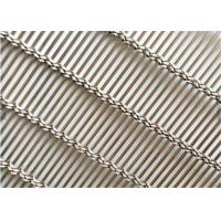 Buy cheap Stainless Steel Decorative Wire Mesh , Decorative Metal Mesh Cladding As Partition from wholesalers