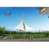 Architectural Shade Sails Park Shade Structures With Membrane Sail UV Resistant