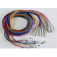 Best Colorful Eeg Electrode Cap With Colorful Eeg Lead Wires 10pcs / Set wholesale