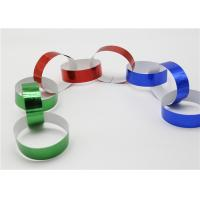 Best Holographic Striped Christmas Paper , Gummed Paper Chains For Display SGS wholesale