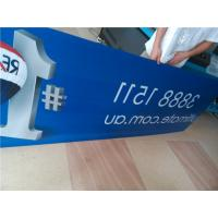 Cheap Indoor Custom Sign Boards Shape Cutting For Informational Signage / Menu Boards for sale