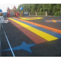 Best Pour In / Wet Pour Epdm Rubber Flooring , Colorful Rubber Granules Flooring Playground Cover  wholesale