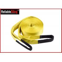 Buy cheap Orange Heavy Duty Lashing Straps Flat Belt With Loop Ends With Break Strength 15,000 Lbs from wholesalers