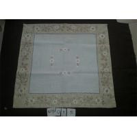 Best Poly Viscose Fabric Linen Hemstitch Tablecloth With Embroidery Technics wholesale
