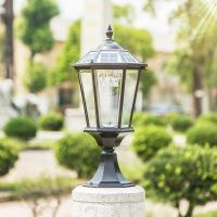 Best Columnar Solar Powered LED Outdoor Lights For Public Place / Courtyard wholesale
