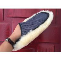 Cheap Super Soft 240*180mm Genuine Lambswool Wash Mitt Non Scratch Waterproof for sale
