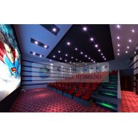 Best 52 Seats 6D Cinema Equipment With 2 Person / Seat Red Motion Chairs For Technology Museum wholesale