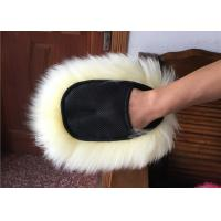Best Soft Sheepskin Car Wash Mitt Pure Merino Wool For Reducing Swirl Marks wholesale