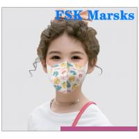 Best 4 Layers Kids Face Mask Infant Dust Protective Gear Non Medical Cartoon Pictures wholesale