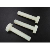 Best M5 X 10 Plastic Nylon Hex Head Screws PA 66 UL 94V-2 Flat Point For Car Industry wholesale