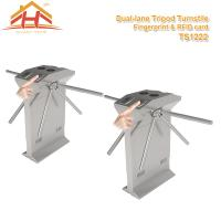 Best Speed Gate Office Pedestrian Access Control Turnstile , Stainless Steel Turnstiles wholesale
