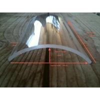 China JGS2 curved  quartz  glass plate , tile coated quartz glass for customized  printing press machinery  using on sale