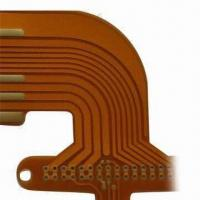 Best Single-layer Flex PCB with Gold Finger Bended to Back Side for Double Side Access wholesale