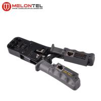 China 4P / 6P Modular Plug Crimping Tool Carbon Steel With LAN Cable Tester MT 8107 on sale