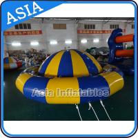 Quality Giant Water Floating Inflatable Saturn Rocker / Inflatable Water Disco Boat wholesale