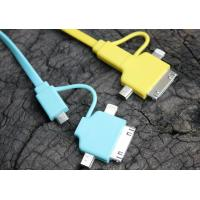 Best Multi-functional 4 in 1 HTC High Speed Charging Micro USB Cable Blue / Yellow wholesale