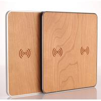 Best Cherry Wood 10W Qi Retractable Car Battery Charger Wireless Mobile Phone Charger wholesale