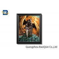 China Grimace Theme 3D Lenticular Pictures With Black Plastic Frame / Lenticular Photo Printing on sale