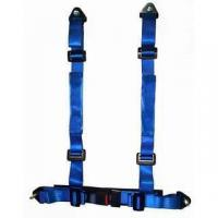 Best Durable Blue Nylon Racing Safety Belts With Retractor , Four Point Seat Belt wholesale