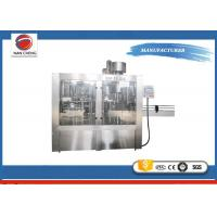 Pure Water 3 In 1 Auto Water Filling Machine Stainless Steel 4000BPH PLC + Touch Screen