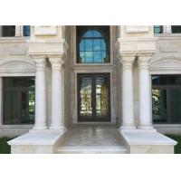 Best Round Shape Natural Building Stone Pillar White Marble Roman Columns 2800 Kg/M3 wholesale