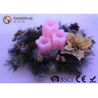 Best 3pk Flower Shaped Decorative Led Candles Fake Wick With CE / ROHS wholesale