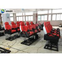 Best Red Luxury 3DOF 5 D Movie Theater With Left Right Front Back Movement For Amusement wholesale