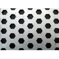 China Hot Rolled Hexagonal Perforated Metal Aesthetically Appealing For Machine Guards on sale