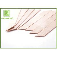 Best Biodegradable Small Wooden Spatula , Rhombus Shape Hair Removal Spatula wholesale