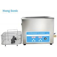 Best High Frequency Heated Ultrasonic Cleaner , 10L 450W Ultrasonic Washing Machine wholesale
