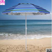 Best Steel Frame Outdoor Parasol Umbrella UV Protection For Sandy Beach Sunshade wholesale