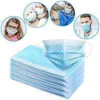 Best Soft 3 Ply Disposable Mask / Non Woven Face Mask With Elastic Ear Loop wholesale