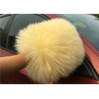 Best Sheepskin Car Wash Mitt Long Hair Real Australia Lambswool Car Cleaning Glove wholesale
