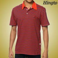 Best Black and Red Striped Polo T Shirts Short Sleeve Polo Shirts Custom Made wholesale