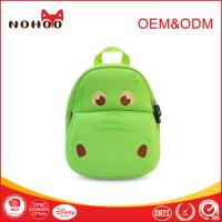 Best Softback green Student School Bags Lovely Hippo Shape 10-20L wholesale