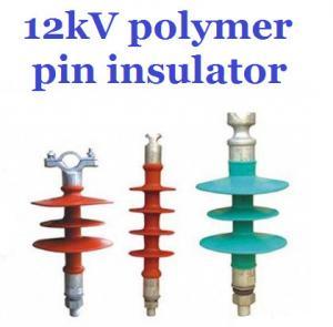 Overhead Line Polymer Pin Insulator , 12kV Silicone Rubber Insulator Creepage 380mm