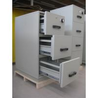 Best Grey Steel 4 Drawers Fire Resistant Filing Cabinets For Valuable Records / Documents wholesale