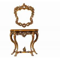 Details of european style antique wooden console table for Antique look mirrors cheap