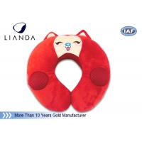 Best Customized Animal Memory Foam Pillows , Soundbox U Shape Pillow With Velvet Cover wholesale