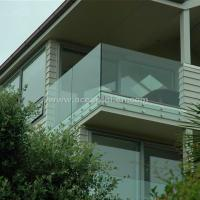 Best Safety Frameless Toughened Glass Railing withStainless Steel Standoff wholesale
